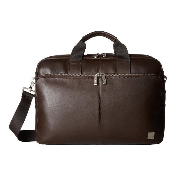 クノモ メンズ ビジネス系 バッグ Brompton Classic Amesbury Double Zip Briefcase Brown