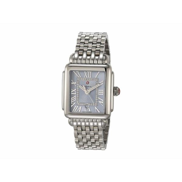 ミッシェル レディース 腕時計 アクセサリー Deco Madison Mid - Blue Sunray Dial Silver