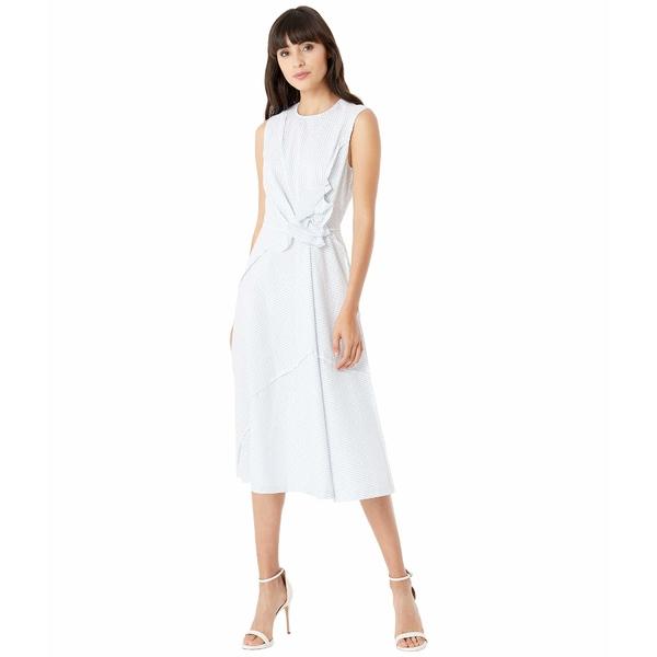 ジェイソンウー レディース ワンピース トップス Sleeveless Asymmetric Ruffle Dress Star White/Capri Blue