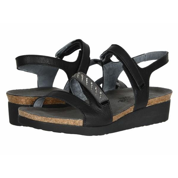 ナオト レディース サンダル シューズ Kendall - Wide Soft Black Leather Combination/Black Stones