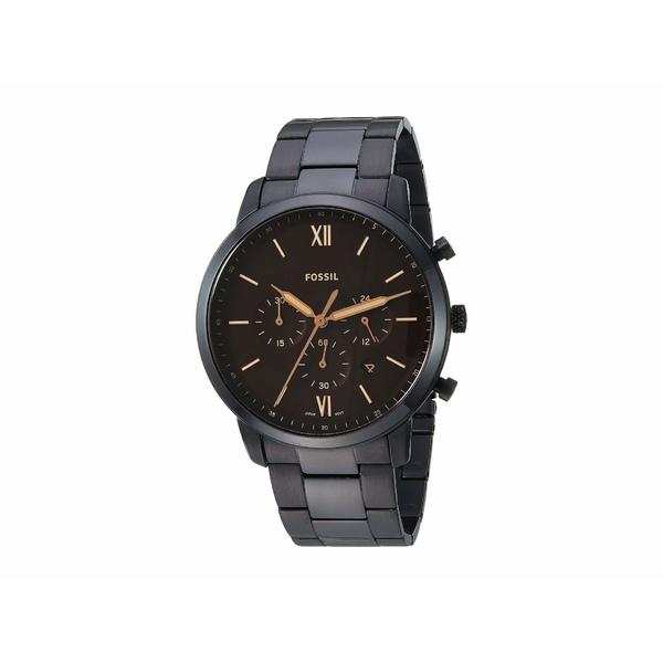 フォッシル メンズ 腕時計 アクセサリー Neutra Chronograph Watch FS5525 Black Stainless Steel