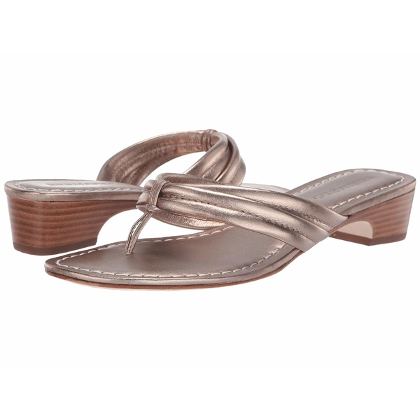 ベルナルド レディース サンダル シューズ Miami Demi Heel Sandals Platinum Antique Calf