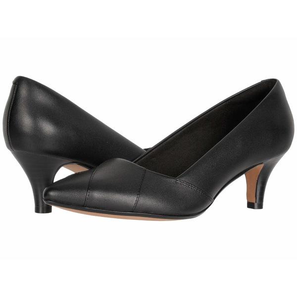 クラークス レディース ヒール シューズ Linvale Sage Black Leather