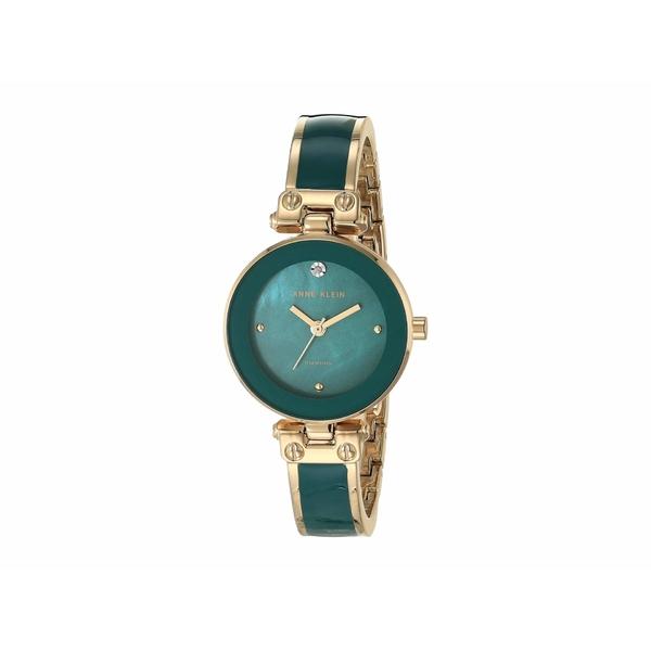 アンクライン レディース 腕時計 アクセサリー Diamond Dial Bangle Watch Green/Gold-Tone