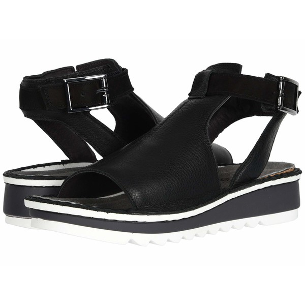 ナオト レディース サンダル シューズ Verbena Soft Black Leather/Black Velvet Nubuck