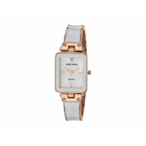 アンクライン レディース 腕時計 アクセサリー Diamond Dial Watch White/Rose Gold-Tone