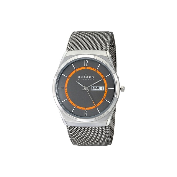 スカーゲン メンズ 腕時計 アクセサリー Melbye Three-Hand Watch SKW6007 Titanium Gray Stainless Steel Mesh