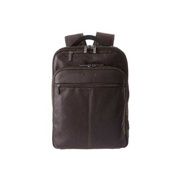 ケネスコール メンズ バックパック・リュックサック バッグ Back-Stage Access Colombian Leather Computer Backpack Brown