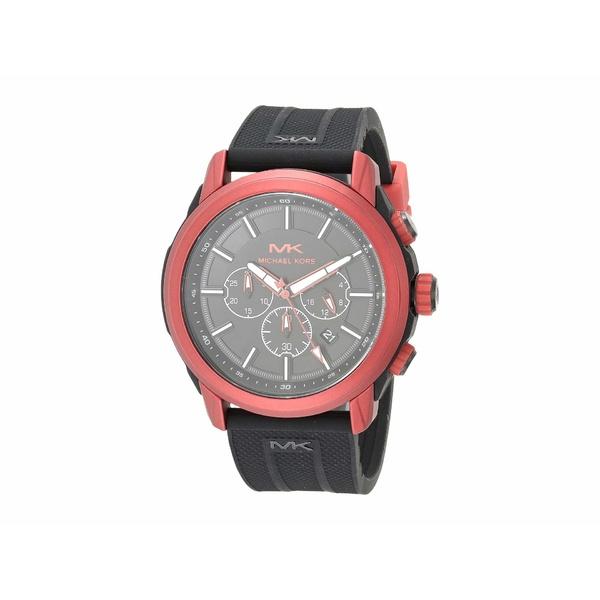 マイケルコース メンズ 腕時計 アクセサリー Kyle Chronograph Silicone Watch Black 1