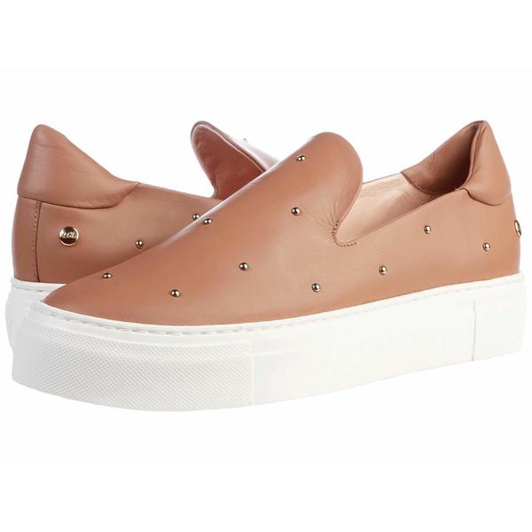 エージーエル レディース スニーカー シューズ Gold Studded Slip On Sneaker Cognac