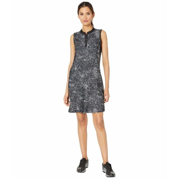 トリバル レディース ワンピース トップス Printed Stretch Knit Golf Dress w/ Shorts Jet Black