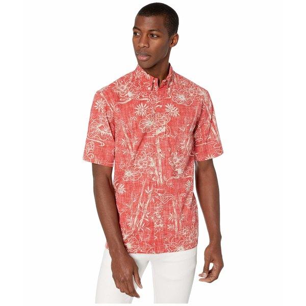 レインスプーナー メンズ シャツ トップス Year of The Rat Classic Fit Weekend Wash Shirt Pompeian Red
