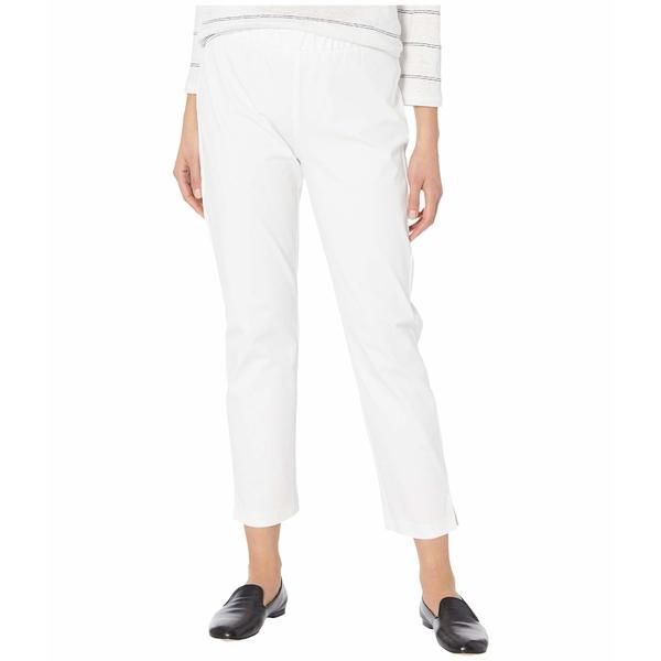 エイリーンフィッシャー レディース カジュアルパンツ ボトムス Mid-Rise Ankle Pants w/ Slits White