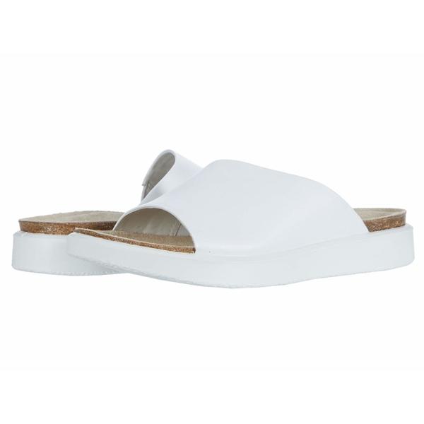 エコー レディース サンダル シューズ Corksphere Slide Bright White Cow Leather