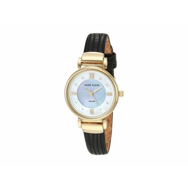 アンクライン レディース 腕時計 アクセサリー Solar Watch Black/Gold-Tone