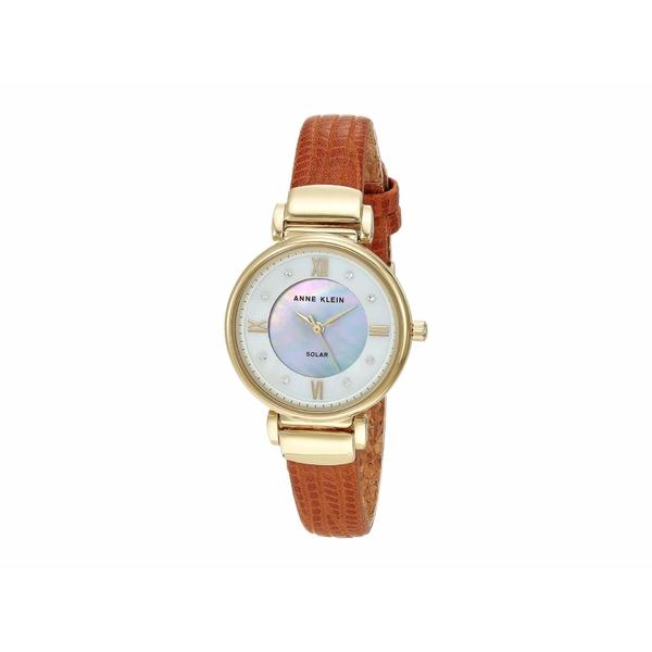 アンクライン レディース 腕時計 アクセサリー Solar Watch Brown/Gold-Tone