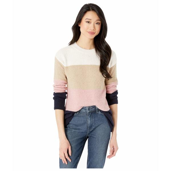 ビービーダコタ レディース ニット&セーター アウター Warm Fuzzy Lightweight Fuzzy Chenille Color-Block Sweater Mauve Rose
