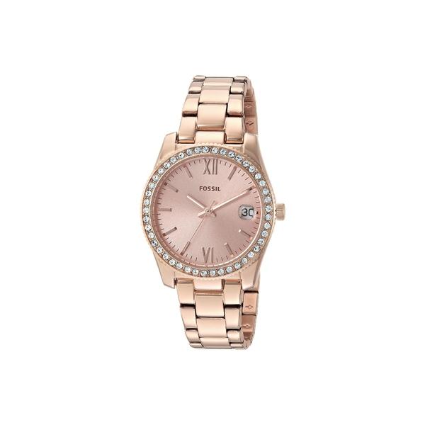 フォッシル レディース 腕時計 アクセサリー Scarlette Mini Three-Hand Watch ES4318 Rose Gold Stainless Steel