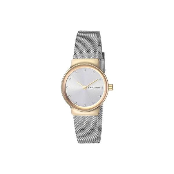 スカーゲン レディース 腕時計 アクセサリー Freja Two-Hand Stainless Steel Mesh Watch SKW2666 Gold Silver Stainless Steel Mesh