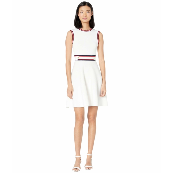 テッドベーカー レディース ワンピース トップス Apryll Knitted Sleeveless Skater Dress Ivory