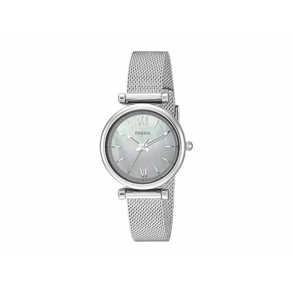 フォッシル レディース 腕時計 アクセサリー Carlie Mini Three-Hand Stainless Steel Watch ES4432 Silver Stainless Steel Mesh