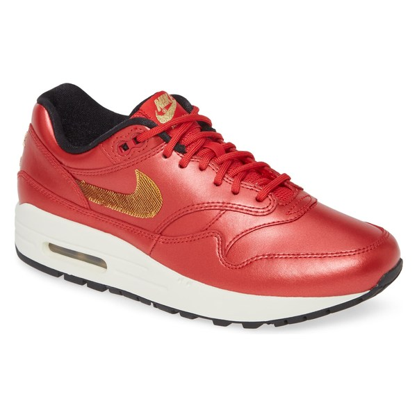 ナイキ レディース スニーカー シューズ Nike Air Max 1 Sneaker (Women) Red/ Metallic Gold/ Black