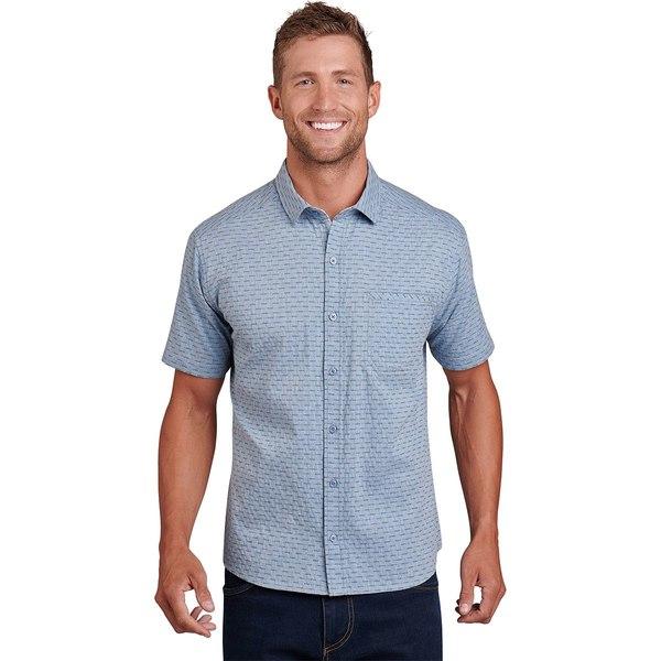 キュール メンズ シャツ トップス Provok Short-Sleeve Shirt - Men's Marin Blue