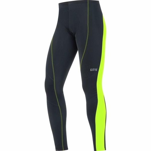 ゴアウェア メンズ サイクリング スポーツ C3 Thermo Tights+ - Men's Black/Neon Yellow
