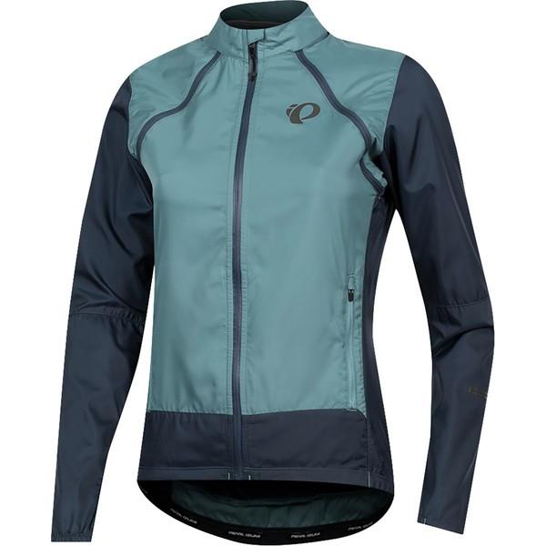 パールイズミ レディース サイクリング スポーツ ELITE Barrier Convertible Jacket - Women's Arctic/Midnight Navy