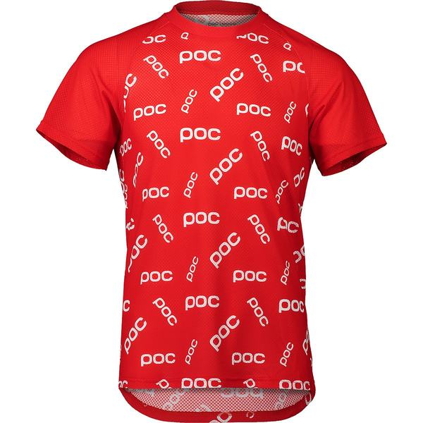 ピーオーシー メンズ サイクリング スポーツ MTB Pure T-Shirt - Men's Polka Poc Prismane Red