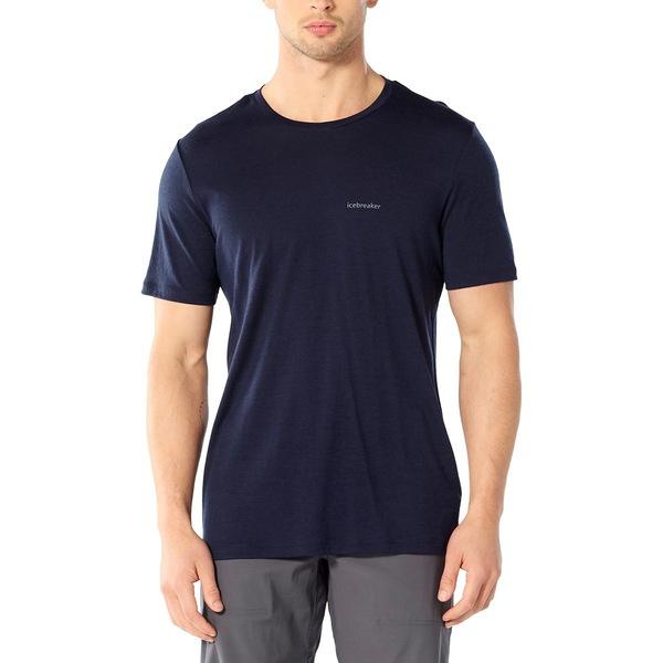アイスブレーカー メンズ シャツ トップス Wordmark Nature Answer Logo Short-Sleeve Crew Shirt - Men's Midnight Navy