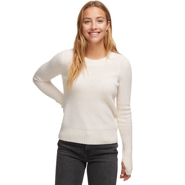 ホワイトプラスウォーレン レディース ニット&セーター アウター Slim Thermal Crewneck Sweater - Women's Pearl White