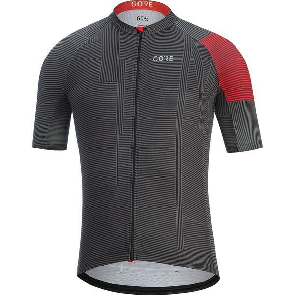 ゴアウェア メンズ サイクリング スポーツ C3 Line Jersey - Men's Black/Red