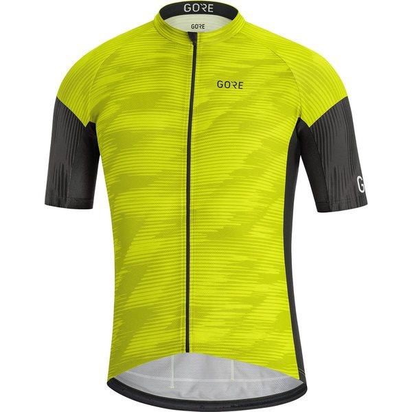 ゴアウェア メンズ サイクリング スポーツ C3 Knit Design Jersey - Men's Citrus Green/Black