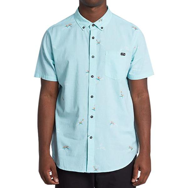 ビラボン メンズ シャツ トップス Sundays Mini Short-Sleeve Shirt - Men's Light Aqua