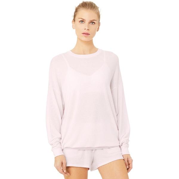 アローヨガ レディース パーカー・スウェットシャツ アウター Soho Pullover - Women's Soft Pink Heather