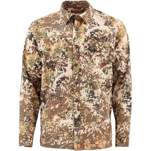 シムズ メンズ シャツ トップス Double Haul Long-Sleeve Shirt - Men's River Camo