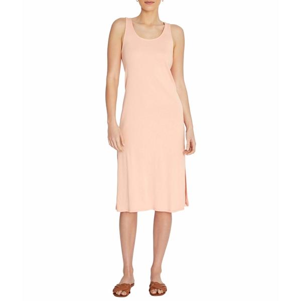 スリードッツ レディース ワンピース トップス Cotton Modal Double Scoop Dress Melon