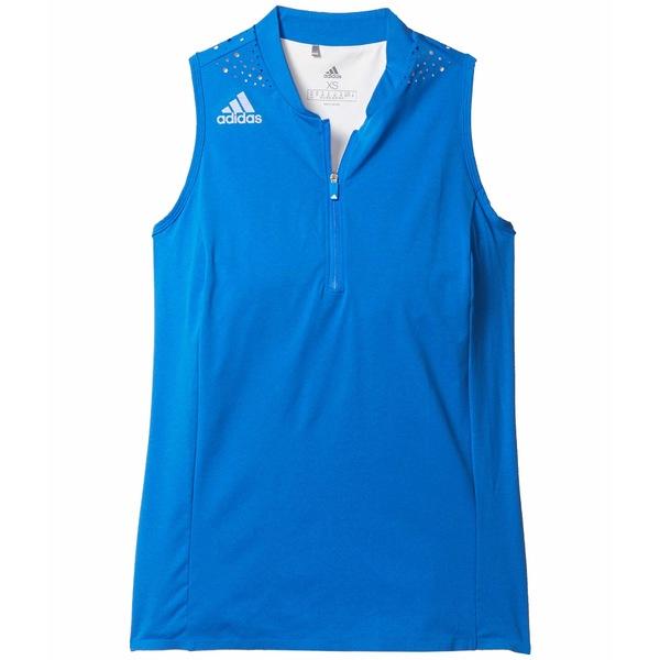 アディダス レディース シャツ トップス Racerback Polo Shirt Glory Blue