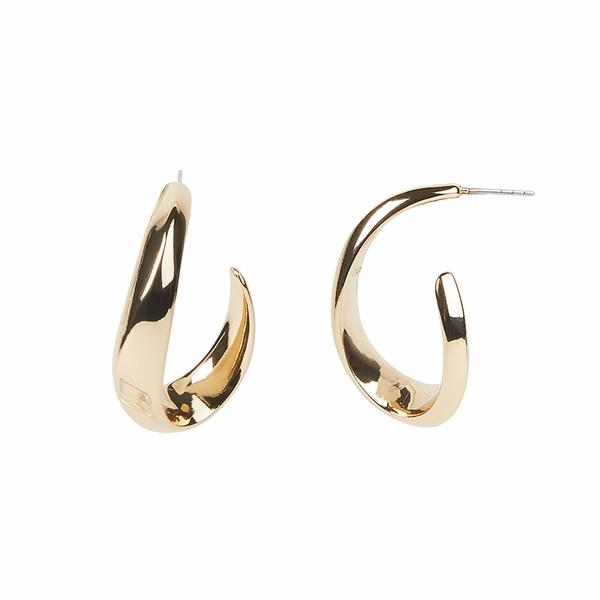 レベッカミンコフ レディース ピアス&イヤリング アクセサリー Swoop Post Earrings Gold
