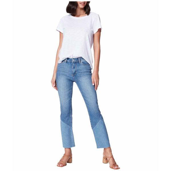 ペイジ レディース デニムパンツ ボトムス Colette Crop Flare w/ Twisted Panel + Raw Hem Jeans in Emmylou Emmylou
