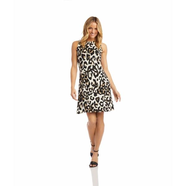 カレンケーン レディース ワンピース トップス Halter Dress Cheetah