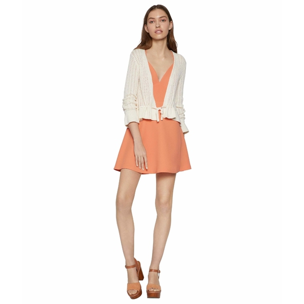 BCBジェネレーション レディース ニット&セーター アウター Long Sleeve Cardigan Sweater TVB4267535 Gardenia