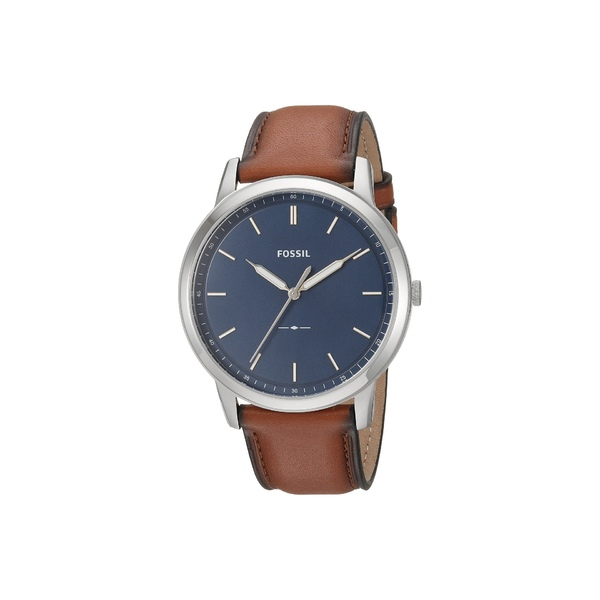 フォッシル メンズ 腕時計 アクセサリー Minimalist Three-Hand Watch FS5304 Silver Brown Leather