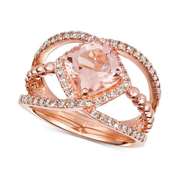 <title>ルヴァン レディース アクセサリー リング Morganite 全商品無料サイズ交換 Peach 1-5 8 ◆セール特価品◆ ct. t.w. Diamond 3 in 14k Rose Gold</title>