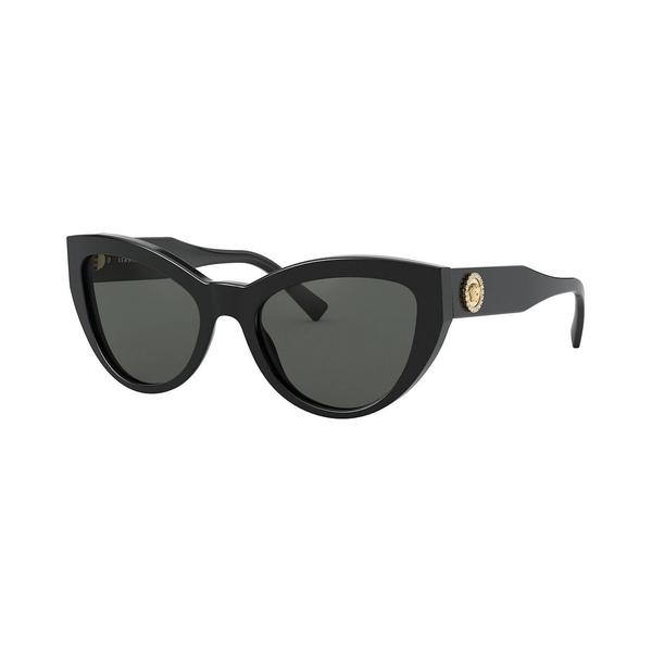 【在庫有】 ヴェルサーチ レディース サングラス&アイウェア アクセサリー Sunglasses, VE4381B 53 BLACK/GREY, ザバリ 8b49e09d