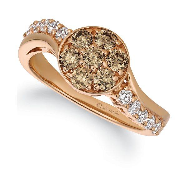 Gold Champagne® ルヴァン Statement 14k Rose レディース ct. アクセサリー t.w.) Ring in リング Rose Diamond Gold (3/4