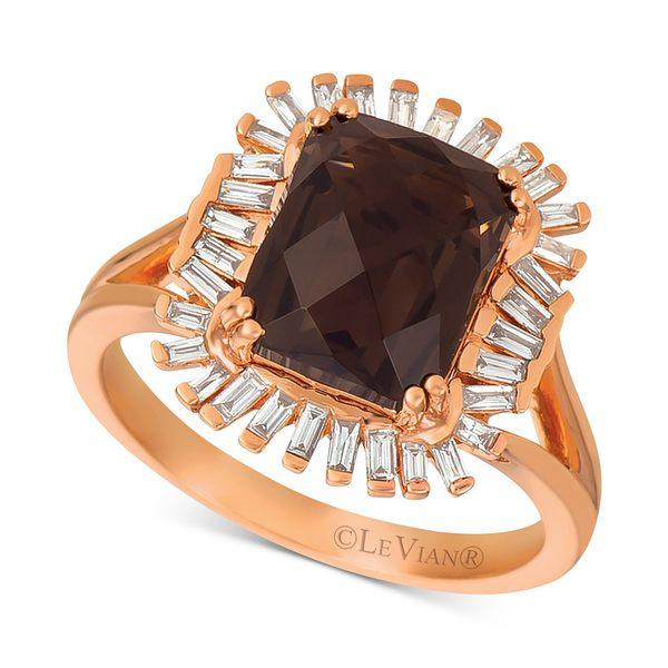 激安通販 ルヴァン レディース リング Chocolate アクセサリー Chocolate® Quartz Quartz (3-1/10 Ring ct. t.w.) & Diamond (1/3 c.t. t.w.) Ring in 14k Rose Gold (Also available in Pomegranate Garnet & Cinnamon Citrine®.) Chocolate Quartz, ギフトショップナコレ:bed3d9af --- greencard.progsite.com
