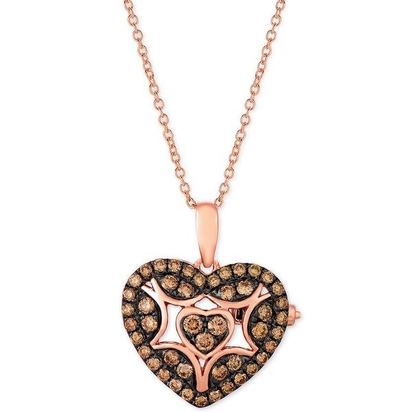 最新 ルヴァン レディース ネックレス・チョーカー・ペンダントトップ アクセサリー Chocolatier® Chocolate Diamond Heart 18