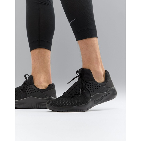 ナイキ メンズ スニーカー シューズ Nike Training v8 free trainers in black ah9395-003 Black